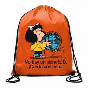 BOLSA DE CUERDAS MAFALDA NO HAY UN PLANETA B!